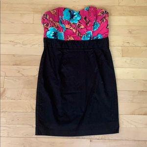 Dresses & Skirts - Charlotte Russe floral and black dress